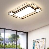Modernas luzes de teto led para sala estar quarto casa iluminação luminárias preto quadrado superfície montado lâmpada do teto AC85 265V|Luzes de teto| |  -