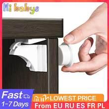 Fechadura magnética do armário de segurança da criança do bebê bloqueio da gaveta da proteção das crianças do armário de segurança do miúdo fechadura à prova de crianças com 1 berço