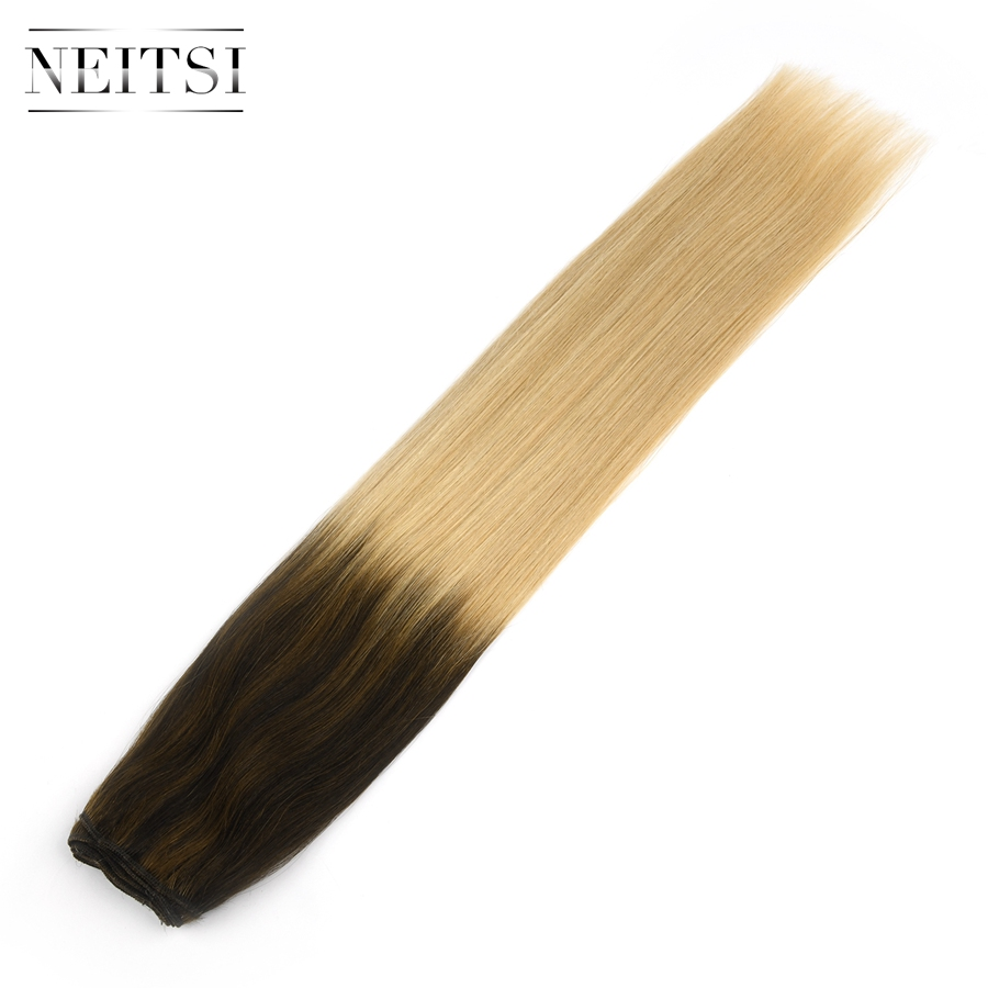 Neitsi Straight Double Drawn Remy Human Hair Extensions 22