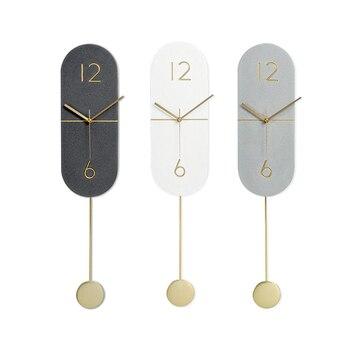 Reloj De Pared con Péndulo Digital De lujo para cocina, reloj De...