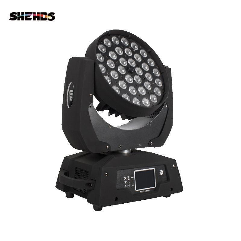 LED Washing Zoom Moving Head Light 36x12W/18W RGBW/+UV Touch Screen Suitable For DMX Stage Light Professional/KTV Effect Light
