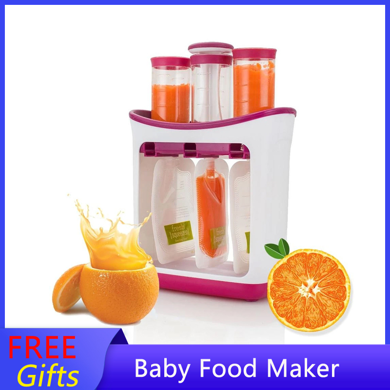 New Baby Feeding Product Newborn Food Maker Portable Toddler Infantino Squeeze Pouches Babycook Fruit Juice Station For 0-6 Ages