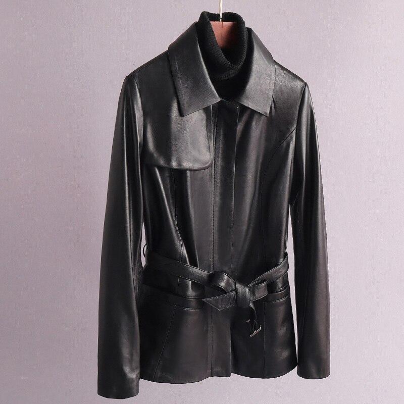 Genuine Leather Jacket Women Sheepskin Real Leather Jacket Women Korean Slim Leather Jacket Women Clothes 2020 JC912. YY1007