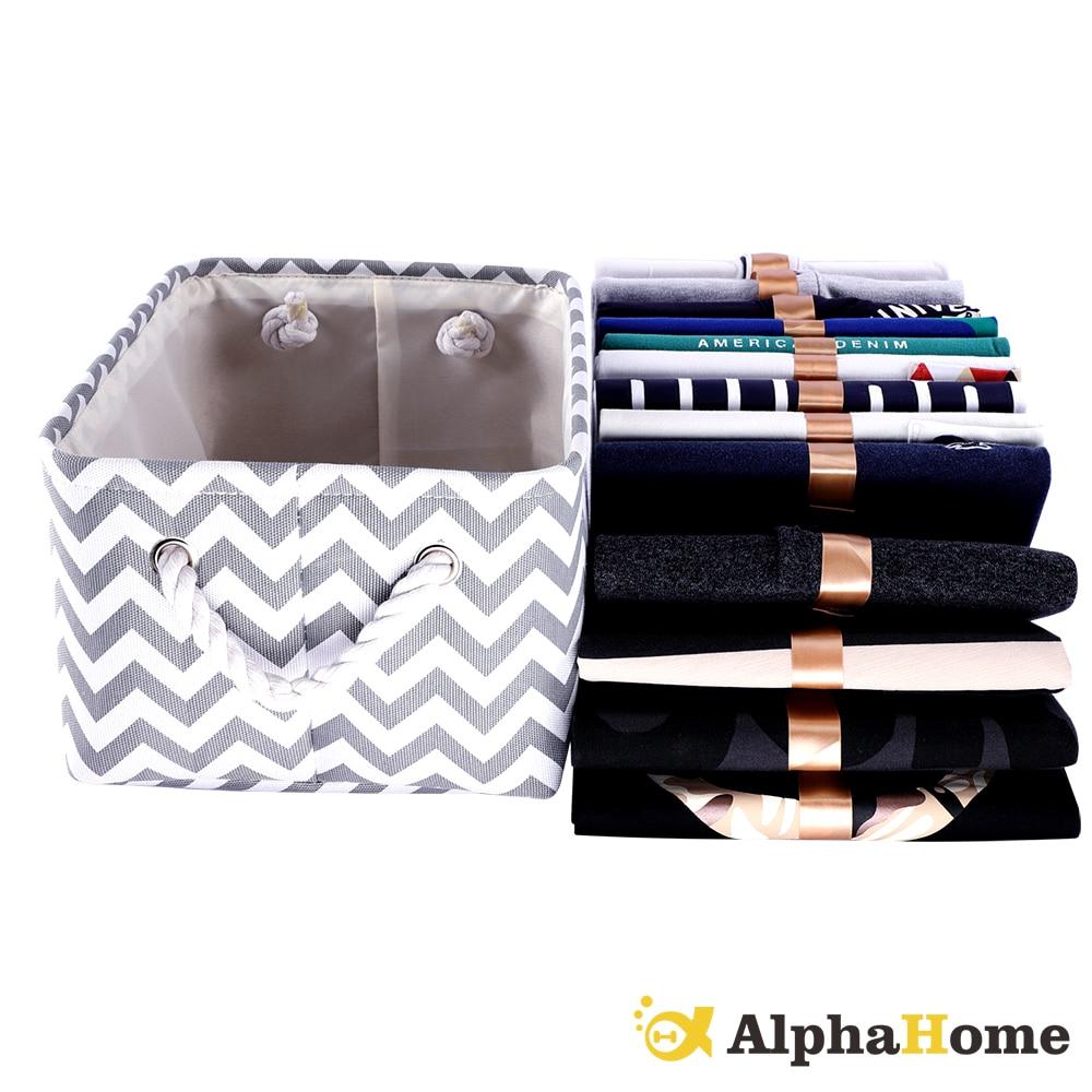 Clothes Folding Nursery Underwear Toy Organizer Laundry Cube Canvas Fabric Storage Basket Storage Box