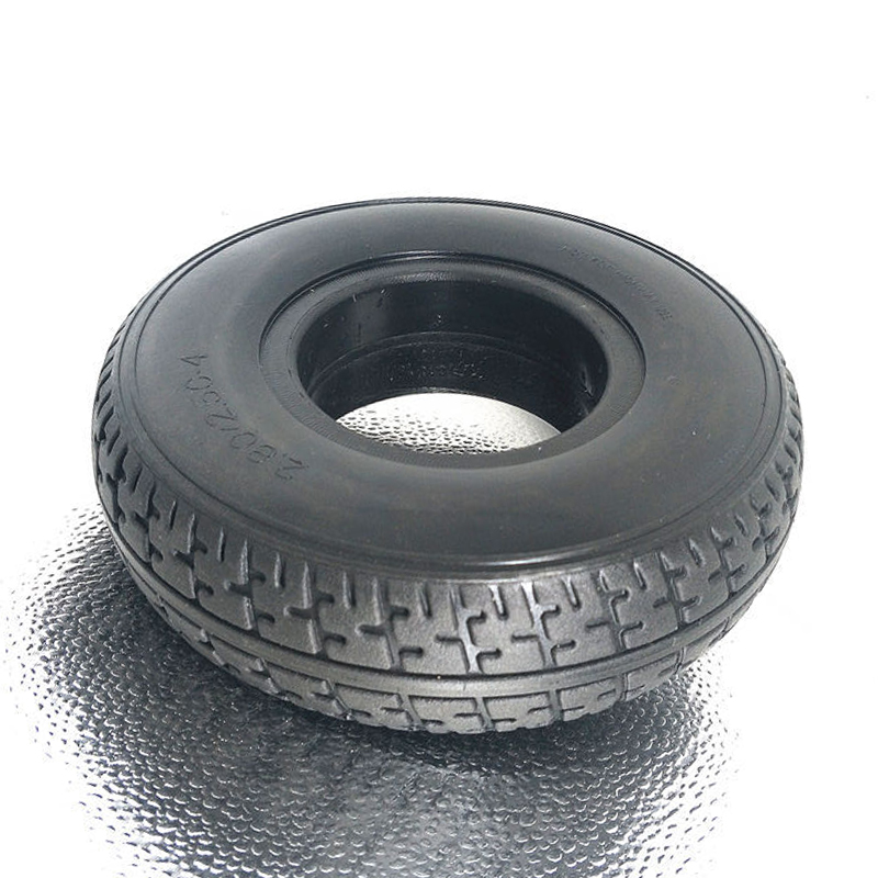 Durable Thick Wheel Solid Tyre Explosion-proof Battery Car Solid Tire <font><b>2.80/2.50</b></font>-<font><b>4</b></font> Elder Mobility Scooter Non-inflable Tyre image