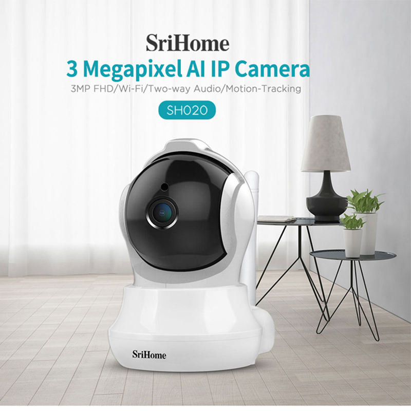 Sricam SH020 360° Mobile Remote View CCTV Camera Smart Home 3.0MP Wifi IP Camera Night Vision Video Surveillance Baby Monitor image