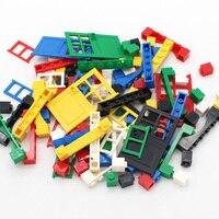 Moc porta & janela 6 cores tijolo 102 pçs diy casa blocos de construção tijolos brinquedos cidade arquiteto criança educacional compatível legoeds