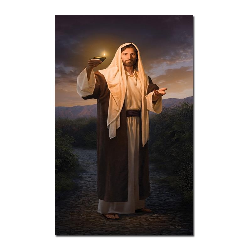 Jesus God Poster La caridad es el amor puro de Cristo Pinturas en lienzo Arte moderno Cuadros decorativos de pared Decoraci/ón del hogar-60x120cm Sin marco