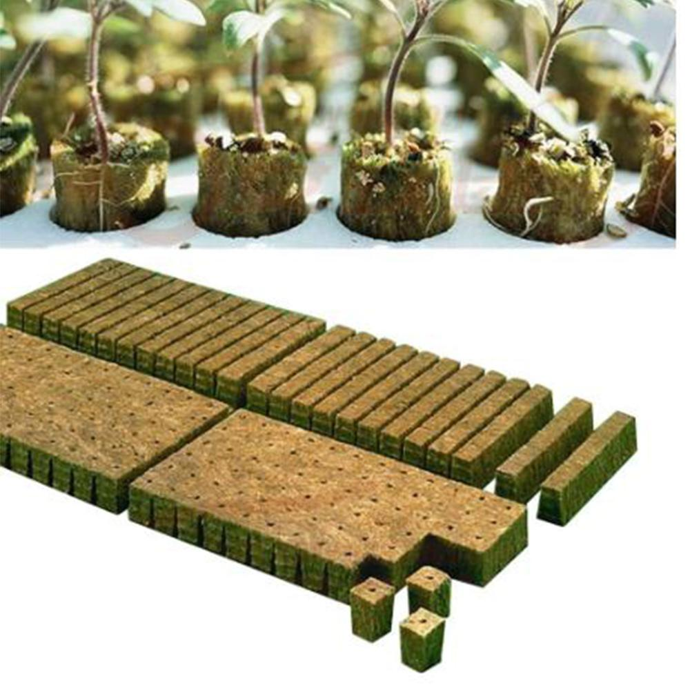 Rockwool Plant Starter Cube Hydroponic Grow Soilless Cultivation Planting Base