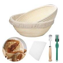 Cesta para fermentação de pão em formato de redondo/oval, cesta de vime para fermentação de pão, massa, pão, faça você mesmo