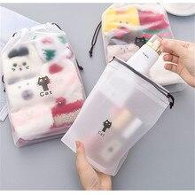 3pcs Animal Cats Cosmetic Bag Travel Makeup Case Women String Make Up Bath Organizer Storage Pouch Toiletry Wash Beaut Kit