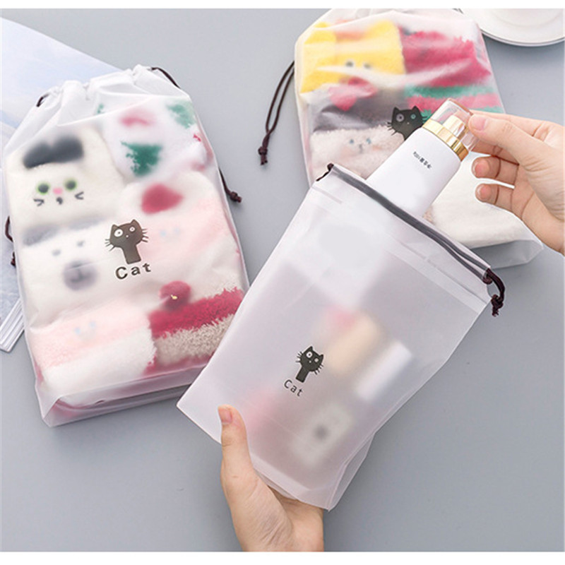 Animal Cats Cosmetic Bag Travel Makeup Case Women String Make Up Bath Organizer Storage Pouch Toiletry Wash Beaut Kit