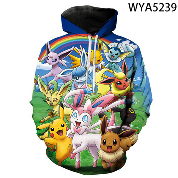 Fall New Style Hoodies Men And Women Children Pokemon Sweatshirt 3d Printing Cartoon Anime Pullover Fashion Coat 1