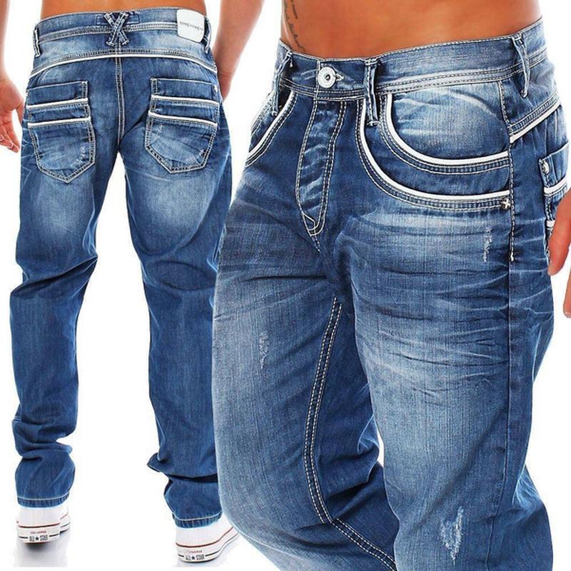Straight Jeans Men High Waist Jean Spring Summer Boyfriend Jeans Streetwear Loose Cacual Designer Long Denim Pants Trousers