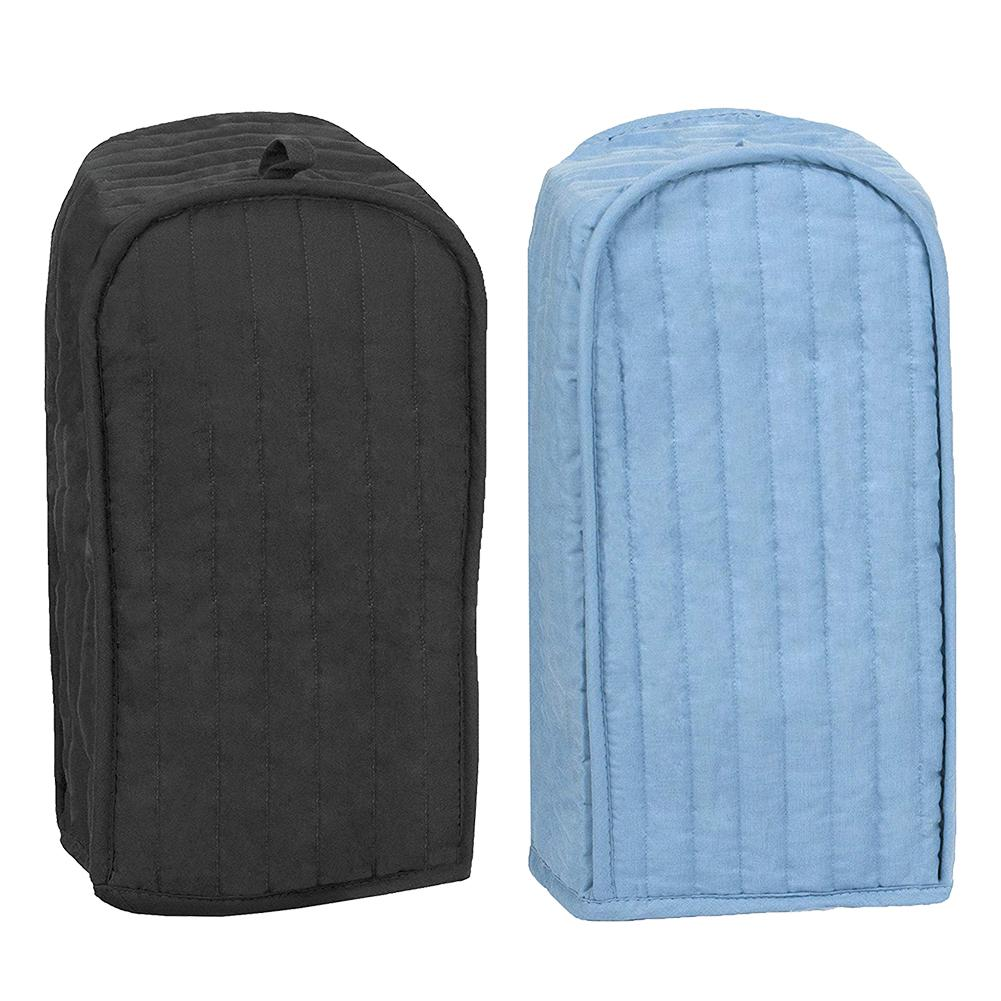 Polyester / Cotton Quilted Blender Appliance Cover, Dust and Fingerprint Protection, Machine Washable, Light Blue /Black