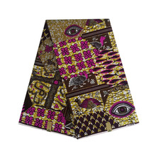 2019 the lastest design african wax dutch block print in fabric DESIRE EYES MIX DESIGN 100% cotton 6yards/piece V-L 668