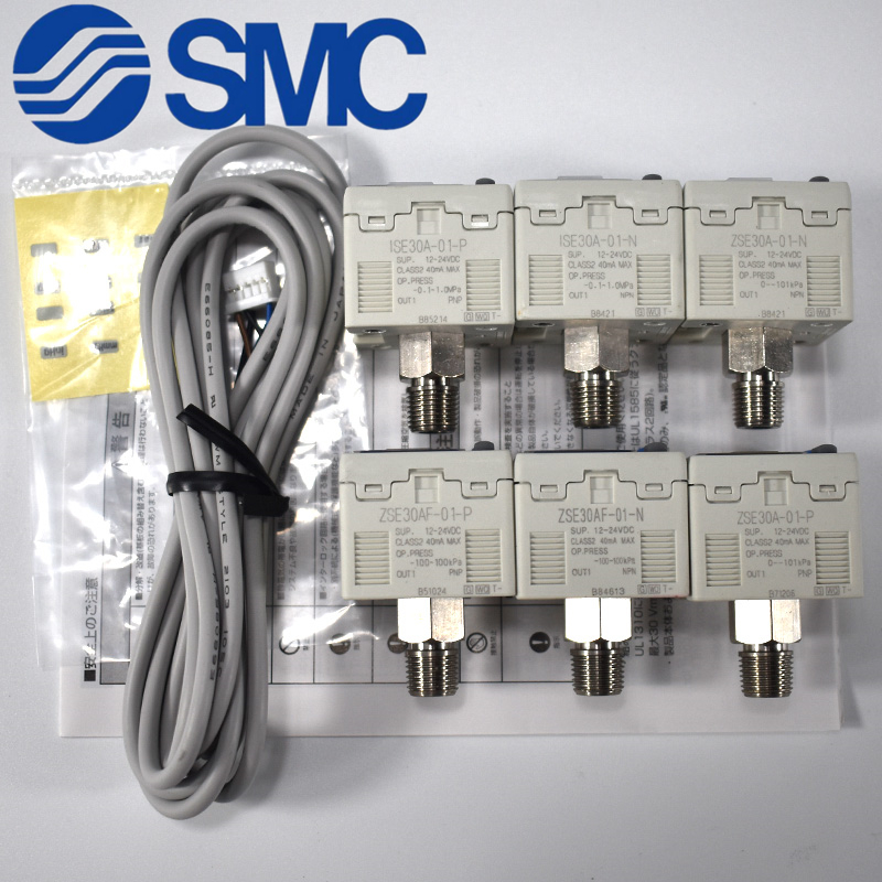 SMC Original ZSE30A-01-B/ISE30A-01-B 2-Color Display High-Precision Digital Pressure Switch ISE30A-01-C-L