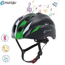 Sh20 mtb smart4u bluetooth música capacete ao ar livre ciclismo inteligente capacete da bicicleta de corrida da motocicleta capacete das mulheres dos homens à prova dwaterproof água