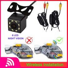 8LED камера заднего вида ночного видения Водонепроницаемая широкоугольная HD камера заднего вида беспроводной видео передатчик и приемник комплект