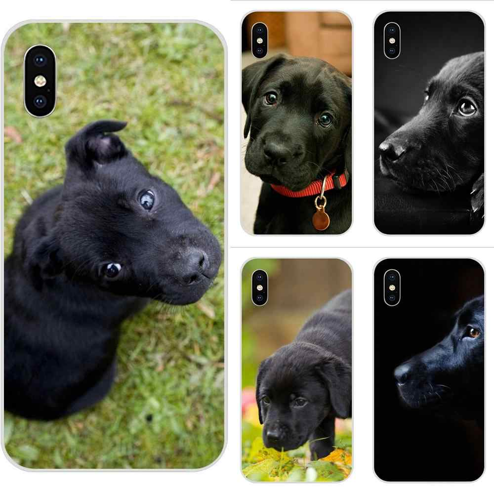 Labrador Black Dog Puppy Puppies For Xiaomi Redmi Mi 4 7A 9T K20 CC9 CC9e Note 7 9 Y3 SE Pro Prime Go Play Soft Case Covers