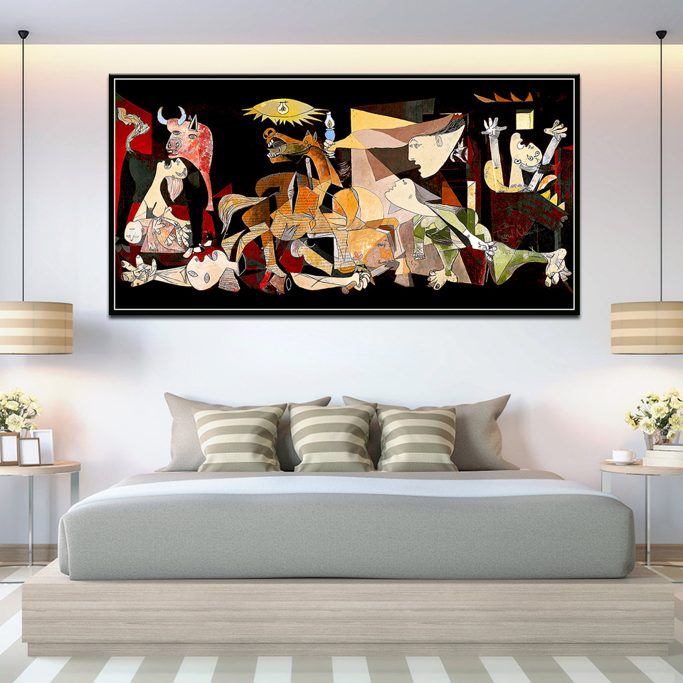 Spain France Picasso Guernica Vintage Classic German Canvas Art Print Painting Posters And Prints Wall Pictures Home Decoration