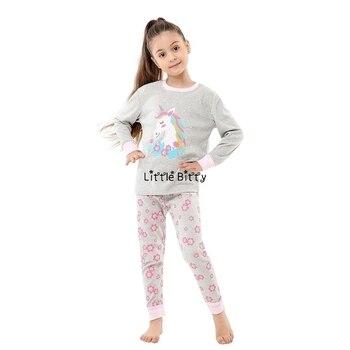100 Cotton Boys and Girls Long Sleeve Pajamas Sets Children's Sleepwear Kids Christmas Pijamas Infantil Homewear Nightwear - PA20, 2T