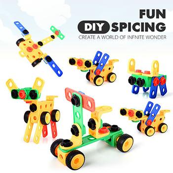 Montaż dla dzieci klocki do budowy zabawek edukacyjnych montaż 101 sztuk duże cząstki montaż klocki do budowy zabawek tanie i dobre opinie CN (pochodzenie) Z tworzywa sztucznego u-330 2-4 lat 5-7 lat 145-1150 Children s Assembling Building Block Educational Toys