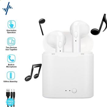 Transgraniczne TWS bezprzewodowe słuchawki na Bluetooth I7s Stereo 4 2 słuchawki douszne słuchawki sportowe słuchawki douszne z etui z funkcją ładowania tanie i dobre opinie TOPK Dynamiczny CN (pochodzenie) wireless 30dB Zwykłe słuchawki do telefonu komórkowego Liniowa instrukcja obsługi Etui ładujące