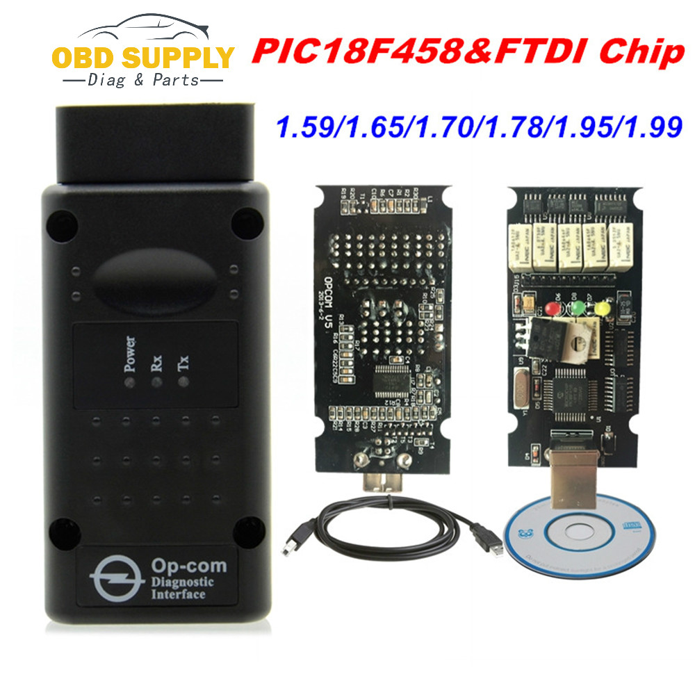 Latest Firmware OPCOM <font><b>1.99</b></font> 1.95 1.78 1.70 1.65 OBD2 CAN-BUS Code Reader For Opel <font><b>OP</b></font> <font><b>COM</b></font> <font><b>OP</b></font>-<font><b>COM</b></font> Diagnostic PIC18F458 FTDI Chip image