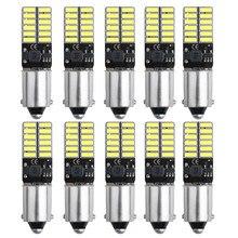10 pces ba9s t4w t11 lâmpadas led canbus 4014 24 smd nenhum erro interior luzes de leitura luz de estacionamento do carro lâmpadas da placa de licença branco 12v