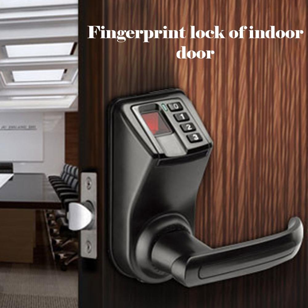 Ls9 serrure d'empreinte digitale de porte intérieure mot de passe électronique serrure de porte d'empreinte digitale de langue unique remplacent directement la serrure de boule