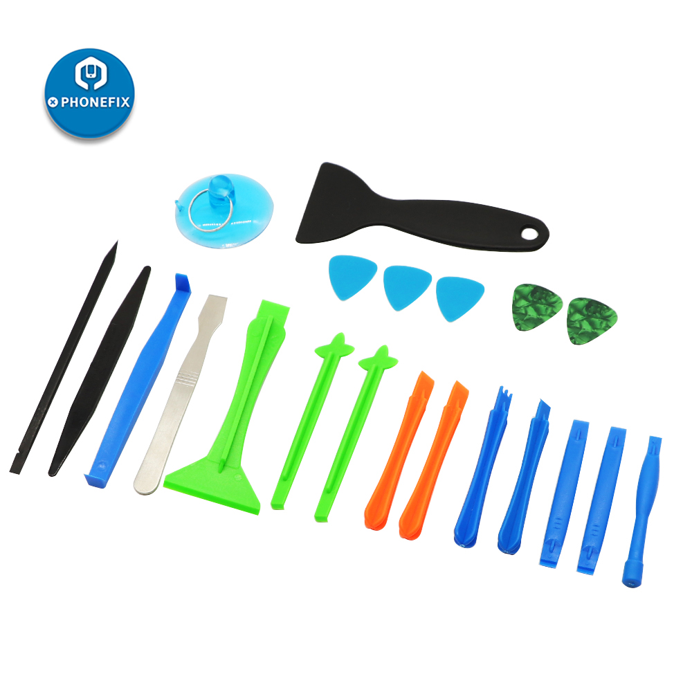 21Pcs Mobile Phone Repair Tool Kit With Sucker Scraper Spudger Opener For IPhone 6 7 8 X Mobile Repair Battery Replacement Kit