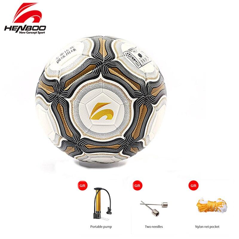 HENBOO Size 4 Size 5 Soccer Ball Official Goal League Ball Training Ball Football PVC Butyl Internal Bladder Outdoor Sports