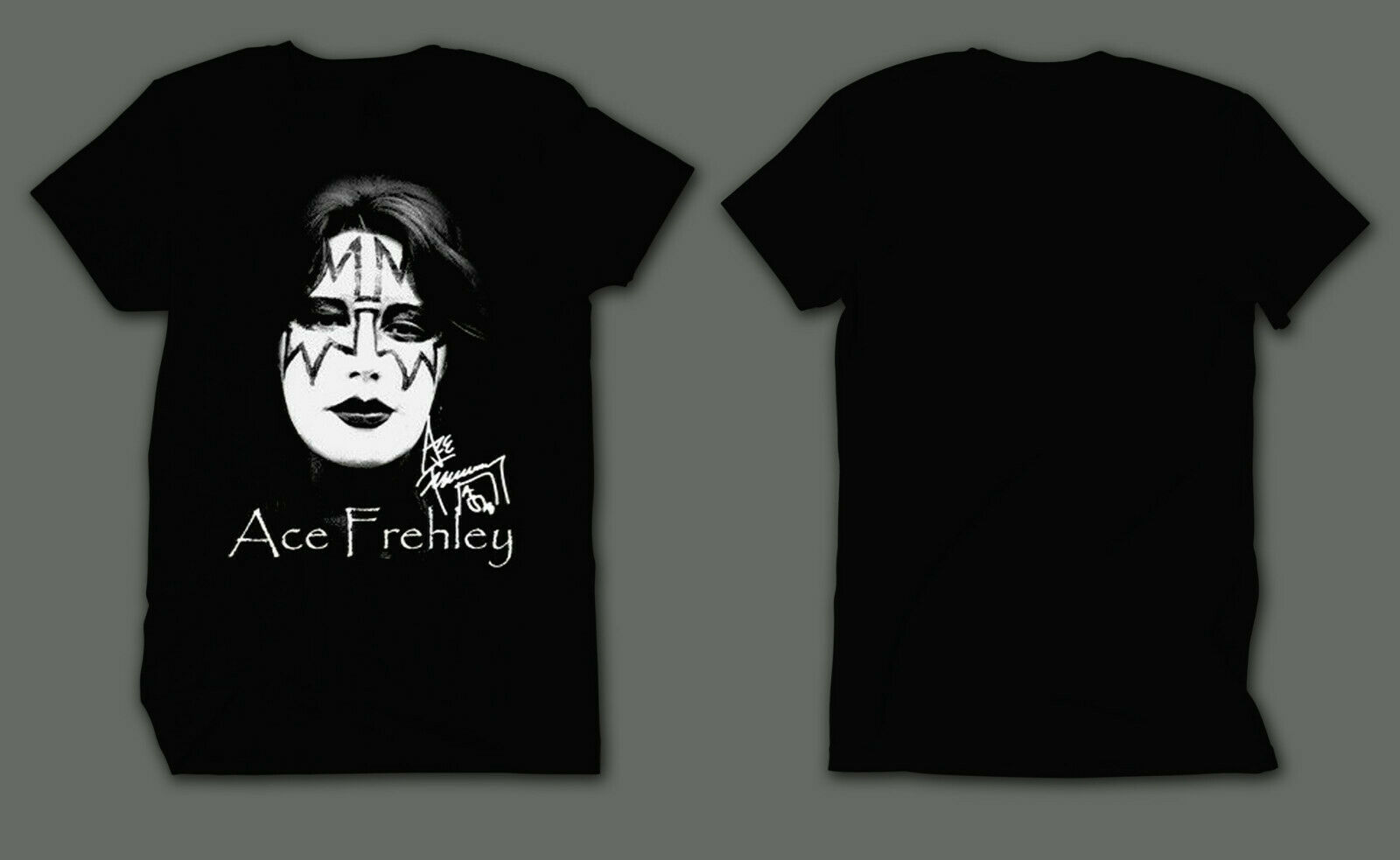 Ace Frehley Kiss Rock Band Guitarist Tribute Black T-Shirt TShirt Tee Size S-4XL image