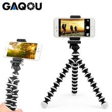 Gaqou mini polvo tripé suporte do telefone flexível portátil para gopro câmera móvel dobrável suporte de mesa