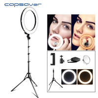 Lámpara de maquillaje capsaver RL 18 Anillo de luz LED de 18 pulgadas con espejo del trípode High CRI LED 5500K foto de cámara Youtuber lámpara de vídeo de estudio|ring light|led ring light|video lamp -
