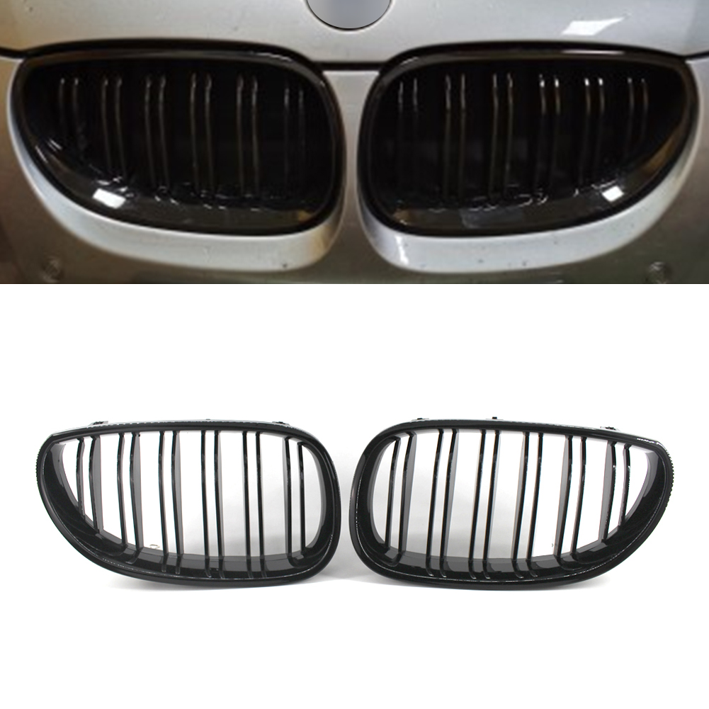 Auto Car Front Grilles For BMW <font><b>5</b></font> Series E60/E61 2003 <font><b>2004</b></font> 2005 2006 2007 2008 2009 left & right image