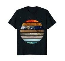 Incrível planeta camiseta grande astronomia presente algodão tshirt masculino verão moda camiseta tamanho euro