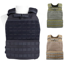 Tactical Hunting Vest War Game Training Body Armor Airsoft Paintball Assault Vest Molle Schieten Plate Carrier Militaire Vesten(China)