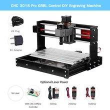 Graveur Laser, Mini Machine CNC 3018 Pro à graver, contrôle GRBL, bricolage, Version améliorée CNC, contrôleur hors ligne