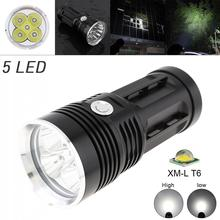LED Flashlight 1500LM 5 x XML T6 5 x LED Waterproof Outdoor 3 Mode Flashlight Torch Lamp White Light Color for Hunting Camping led flashlight 1200lm 4 x xml t6 led waterproof outdoor 3 mode flashlight torch lamp white light color for hunting camping