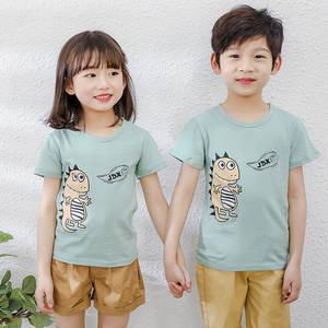 Girls Pajamas Short-Sleeve Kids Clothing Homewear Baby-Boy Cotton Summer Suit Tshirt