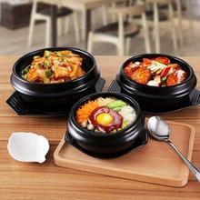 Kitchen Pot Household Rice Dressing Special Stone Pot Korean Style Ceramic Open Fire Casserole Rice Casserole Earthen Gar