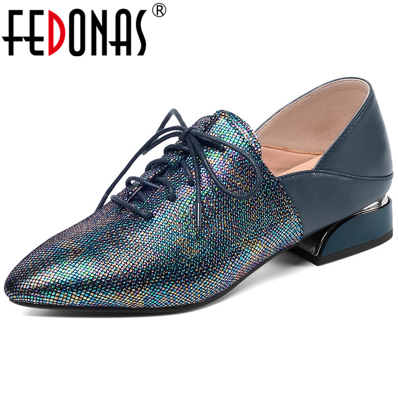 FEDONAS Elegant Retro Genuine Leather Pumps Women Spring Autumn Four Seasson Office Party Shoes Woman Mixed Colors High Heeled