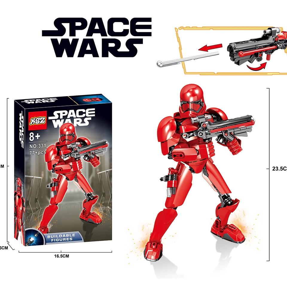 2019 NEW KSZ  Star Wars Commander Red Cody Robot Soldier Legoinglys Figure Blocks StarWars Gift Building Bricks Kid Toys