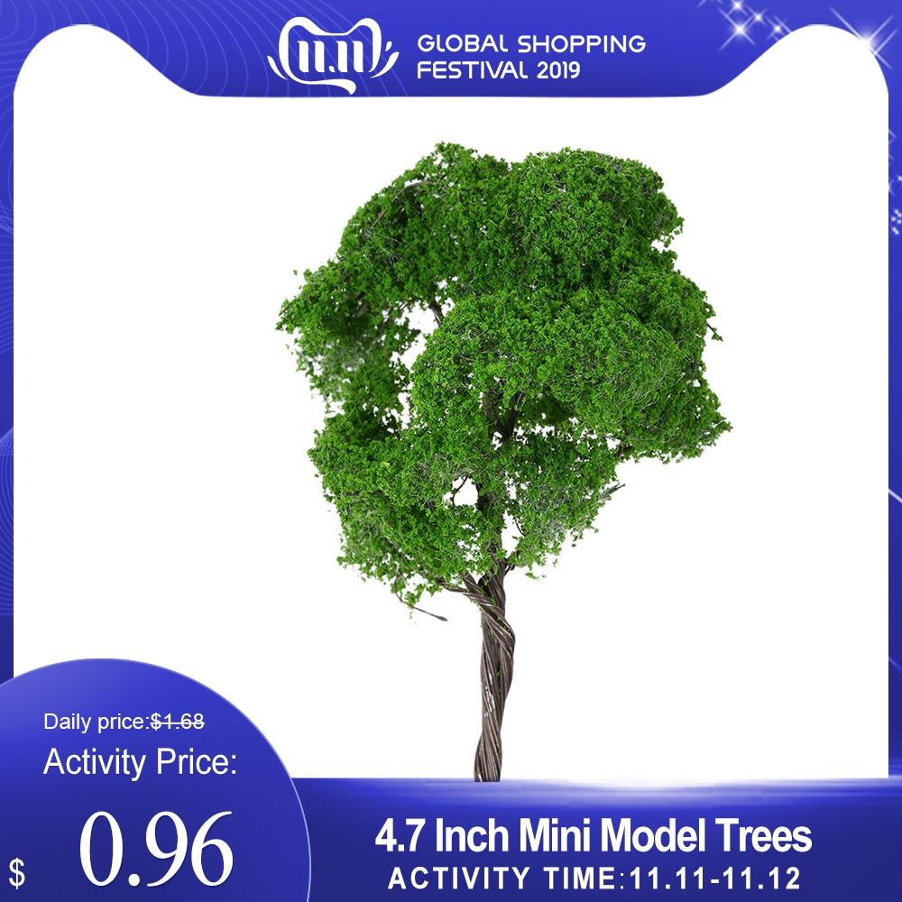 4.7 Inch Tree Model Building Plastic Miniature Mini Model Trees Train Layout Landscape Scenery Diorama Miniatures 1:75 Scale