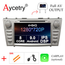 4G + 64G 8 Core 2 DIN Android 9.0 Car DVD Player GPS Audio untuk Toyota Camry 40 50 2006-2011 Mobil Radio Multimedia Video Player OBD2(China)