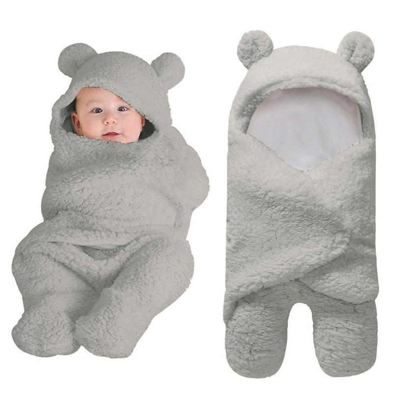 Cotton Baby Blanket Newborn Cute Cartoon Solid Receiving Sleeping Blanket Boy Girl Wrap Swaddle Swaddle Wrap Sleeping Bag  A40