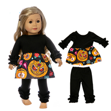 doll clothes for baby dolls Halloween dress wear 43cm new born coat pants girl gifts