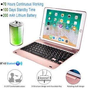 Image 3 - Tastiera intelligente per Apple iPad 9.7 2017 2018 5th 6th Generazione Cassa Della Tastiera di Bluetooth per iPad Air 1 2 5 6 Pro 9.7 mini 2 3 4 5